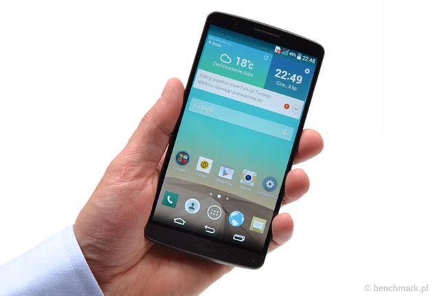 LG G3 w ręce