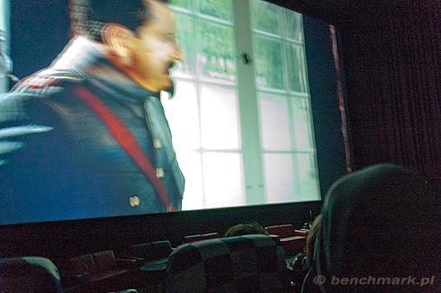 Projekcja film 3D ekran