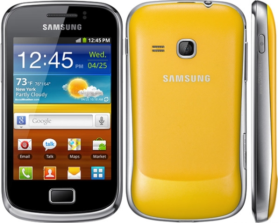 Galaxy Mini 2 smartfon wygląd front tył bok