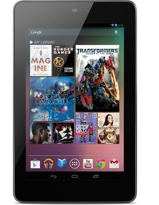 Google Nexus 7 tablet front system android 4.1 jellybean