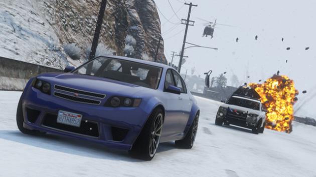 GTA Online śnieg