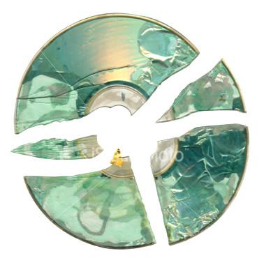 zniszczona płyta kompaktowa CD