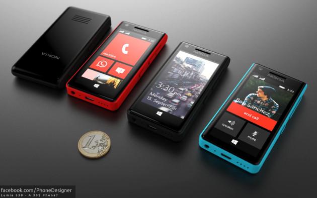 Lumia 330 smartfon koncept