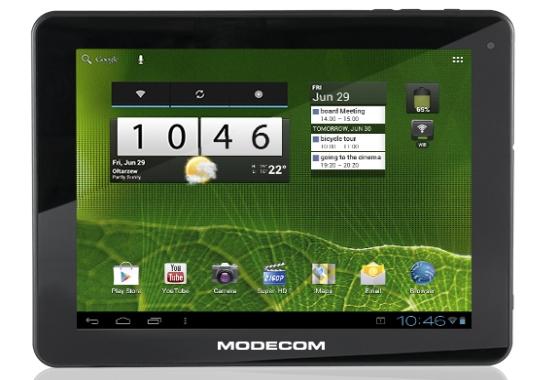 Modecom FreeTAB 9701 tablet front ekran