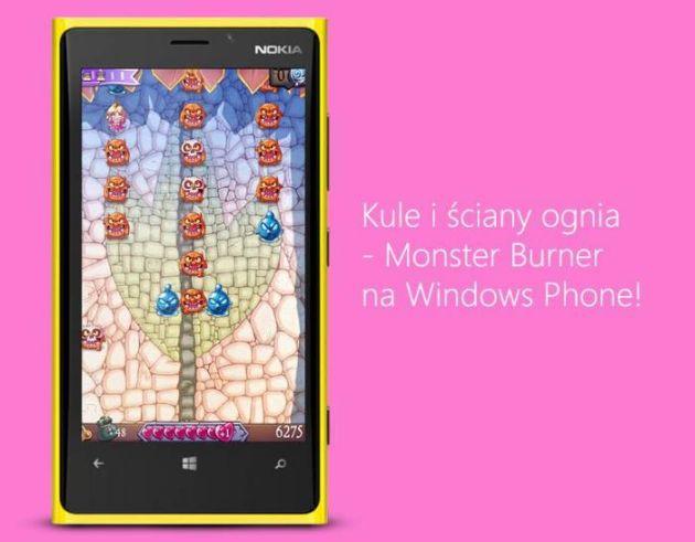 Monster Burner już dostępny w Sklepie Wondows Phone