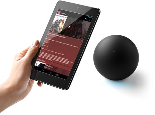 google nexus q odtwarzacz społecznościowy sterowanie tablet