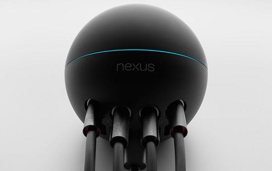 google nexus q odtwarzacz społecznościowy widok podłączone kable