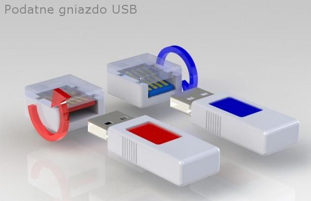 Podatne gniazdo USB