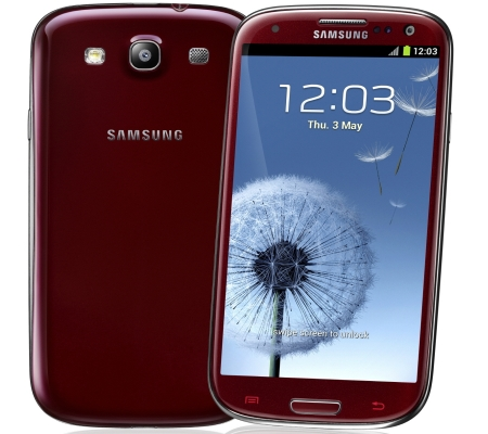 Samsung Galaxy S 3 smartfon rubinowy