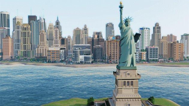 SimCity gra Statua Wolności