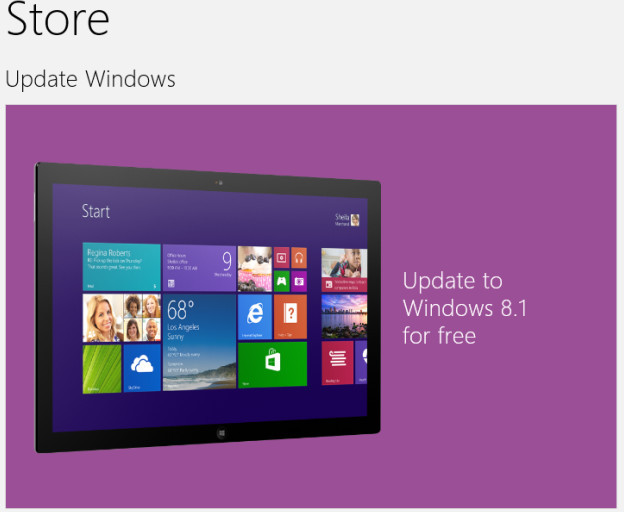 windows 8.1 aktualizacja tablet