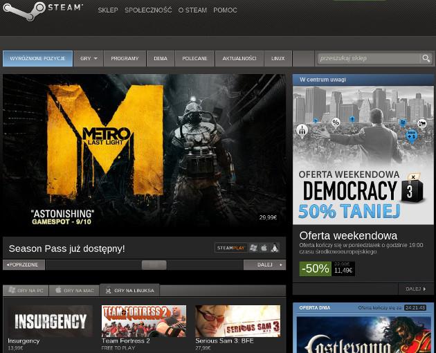 steam valve sklep odsprzedaż gier