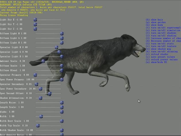 wiedźmin 3 animacja wilka bez technologii fur tech