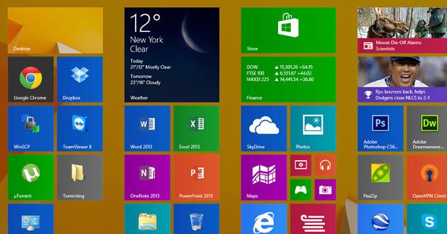 windows 8.1 ekran start aktualizacja przyczyny problemów