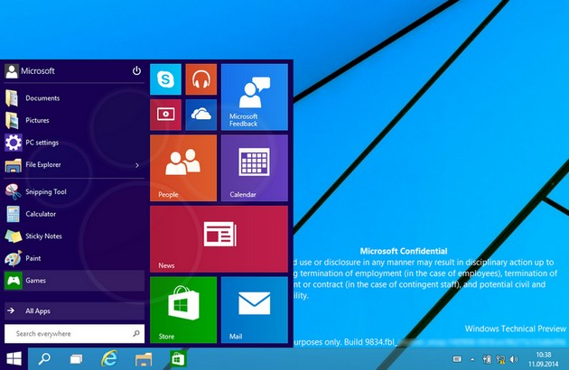 Windows 9 screeny