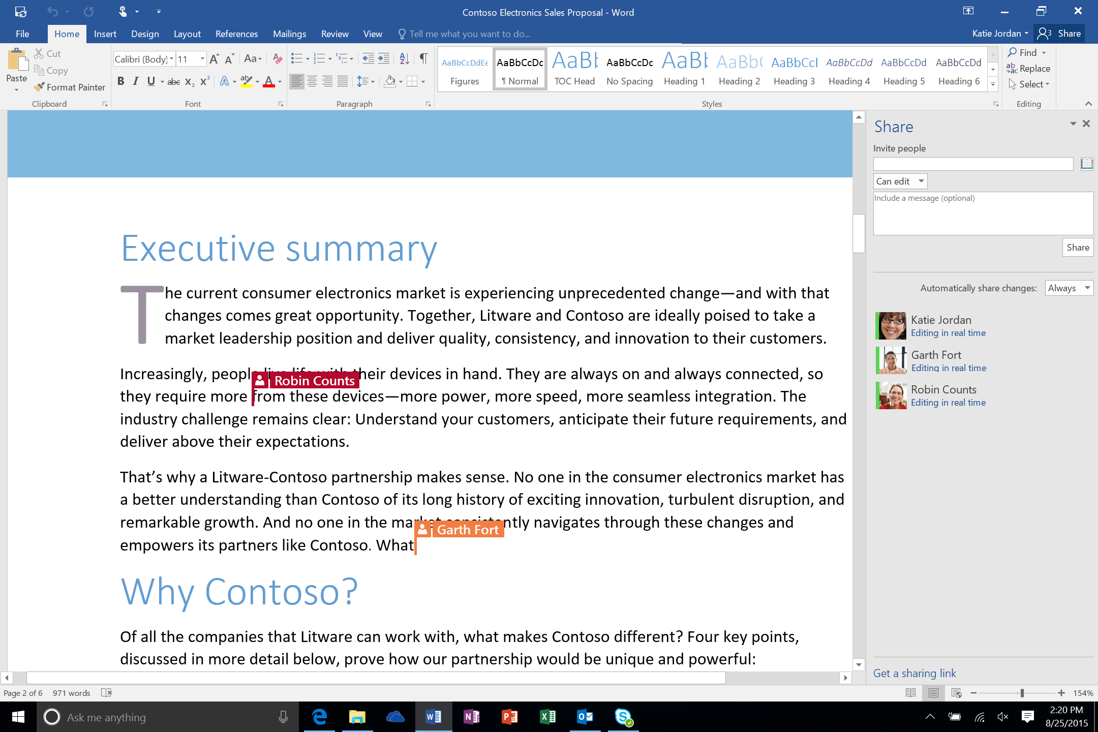 Office 2016: Co-authoring w Wordzie