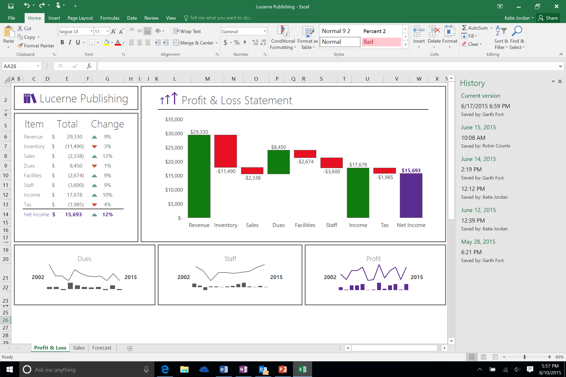 Office 2016: Excel