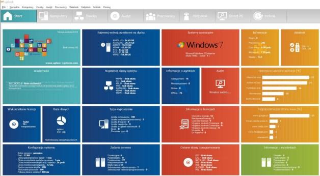 Informacyjny ekran startowy programu uplook. źródło: Aplusc Systems