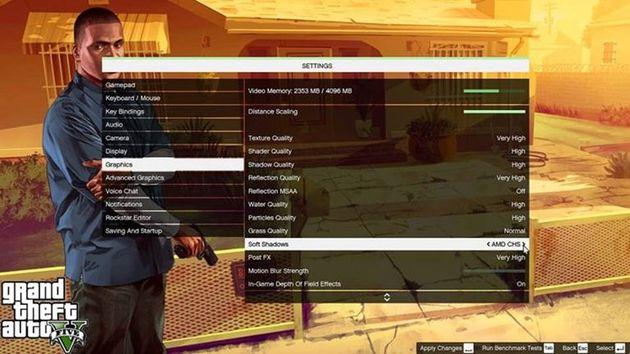 GTA V - cienie AMD CHS