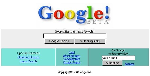 WWW Google 1998