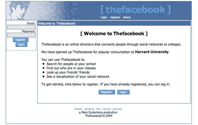 WWW Thefacebook