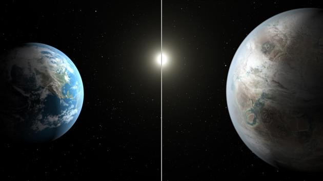 Kepler-452b i Ziemia porównanie