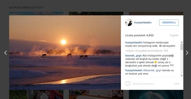 Instagram zdjęcie panoramiczne w poziomie