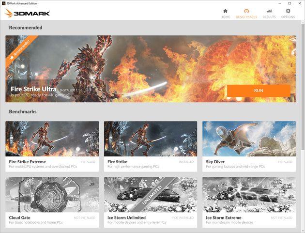 Futuremark 3DMark - nowe menu