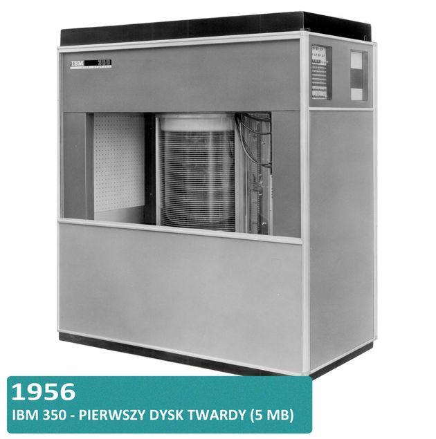 Historia dysków twardych HDD i SSD - IBM 350