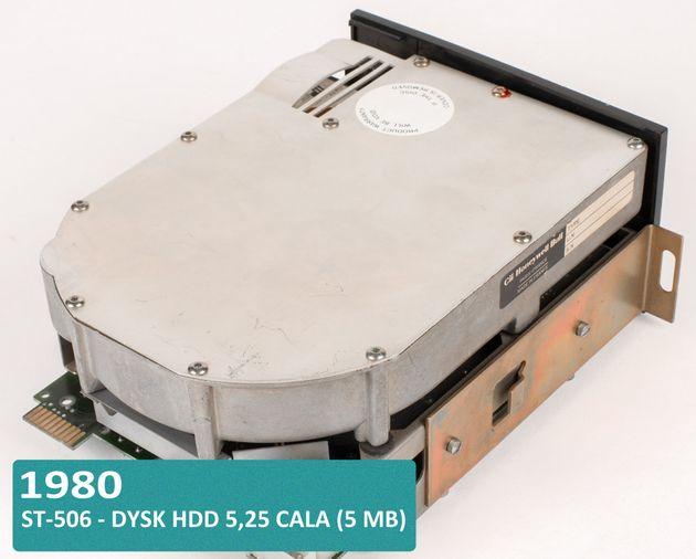 Historia dysków twardych HDD i SSD - Shugart ST-506