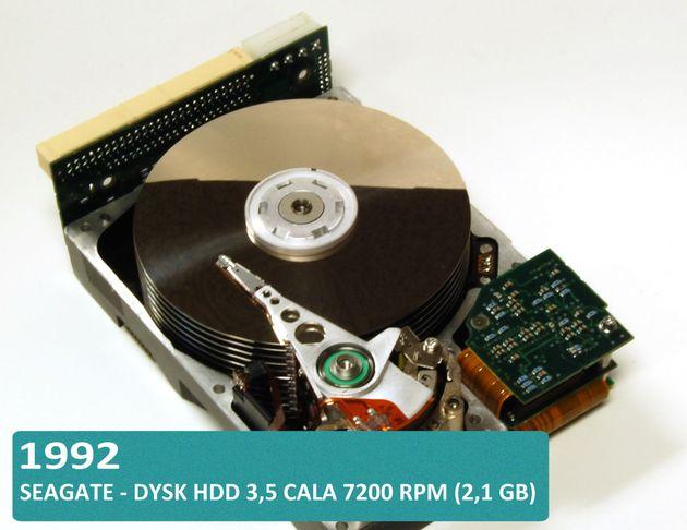 Historia dysków twardych HDD i SSD - Seagate dysk 3,5 cala 7200 RPM