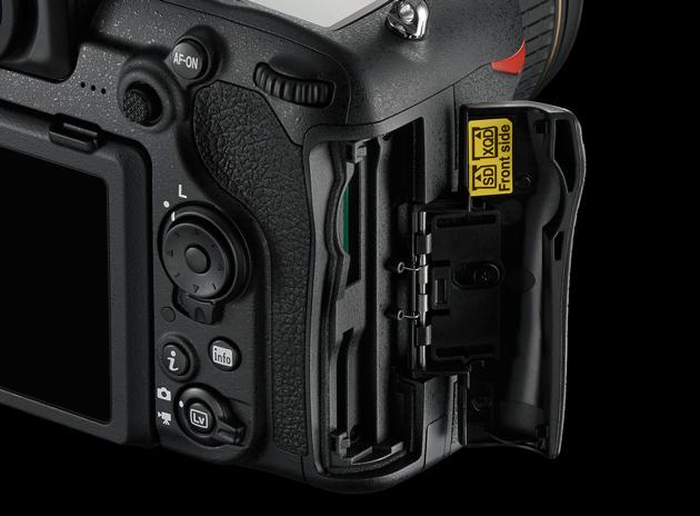 Nikon D500 sloty karty pamięci