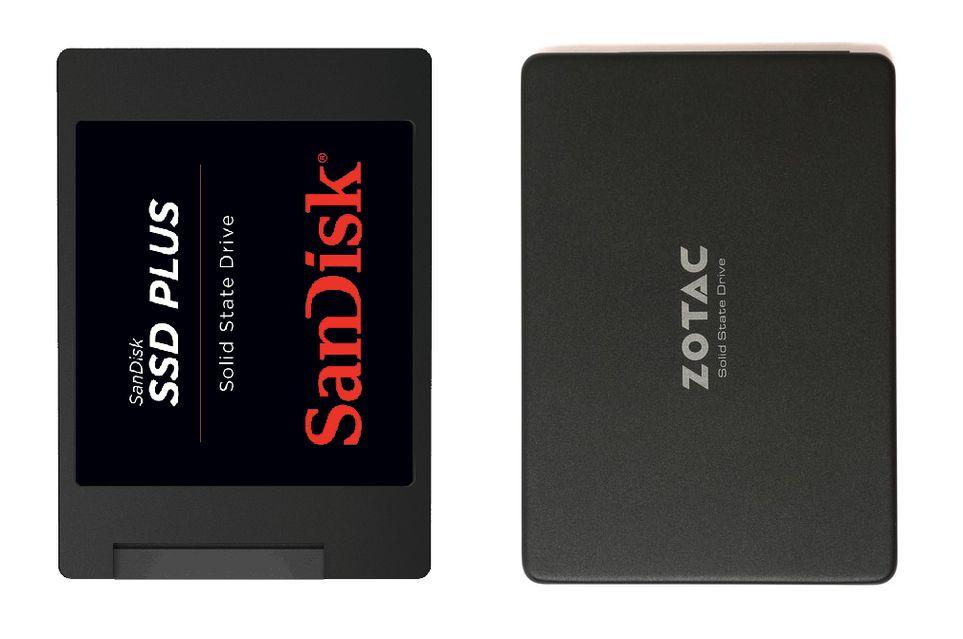 SanDisk SSD Plus i Zotac Premium SSD