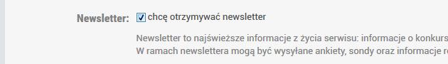 nie chcę otrzymywać newslettera