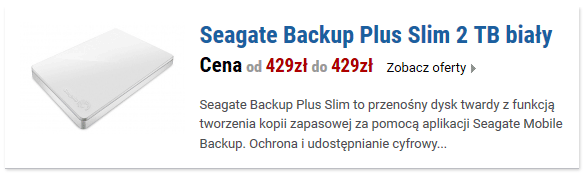 Seagate Backup Plus Slim 2 TB