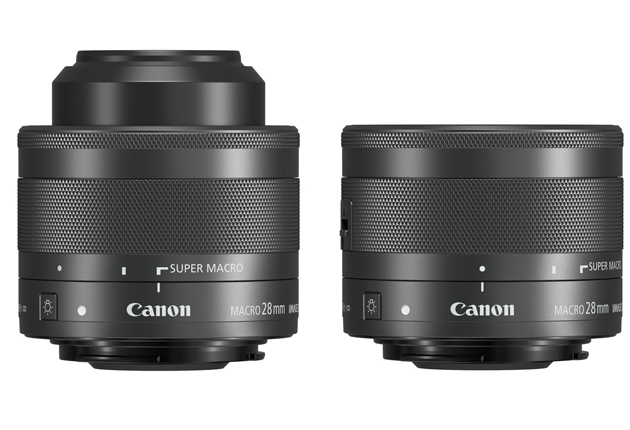 Canon EF-M 28 mm f/3,5 mm Makro IS STM pionowo