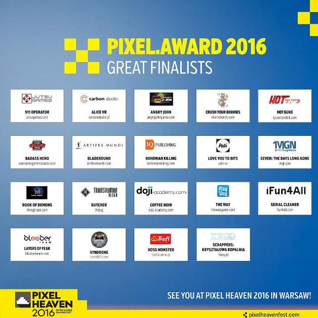Pixel Awards nominowani