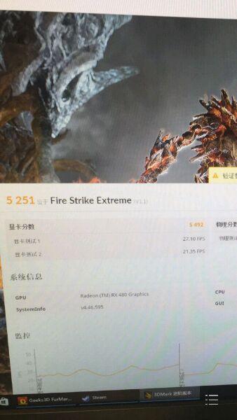 AMD Radeon RX 480 - wydajność 3DMark Fire Strike Extreme