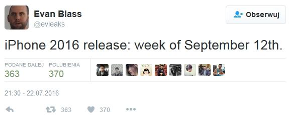 iPhone 7 w sklepach już 12 września