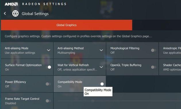 AMD Radeon Software Crimson Edition - tryb kompatybilności