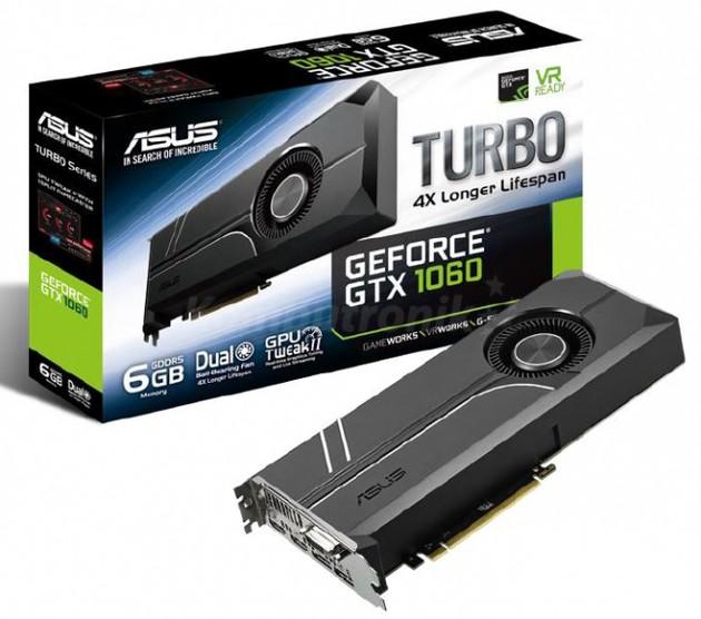 ASUS GeForce GTX 1060 Turbo karta graficzna