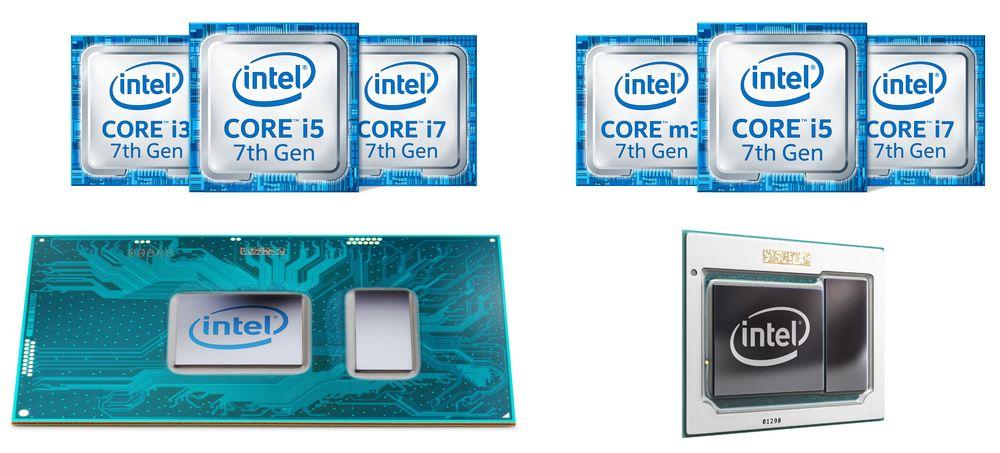 Intel Kaby Lake - podział procesorów