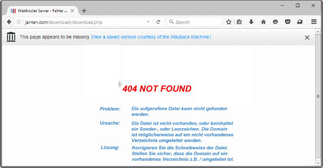 Firefox No More 404s