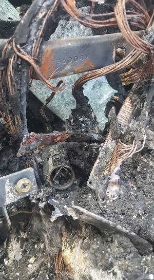 Galaxy Note 7 pożar auto
