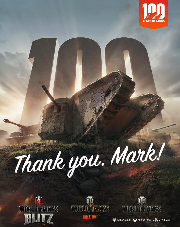 World of Tanks gra Mark I czołg rocznica