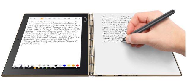 Lenovo Yoga Book tryb pisania