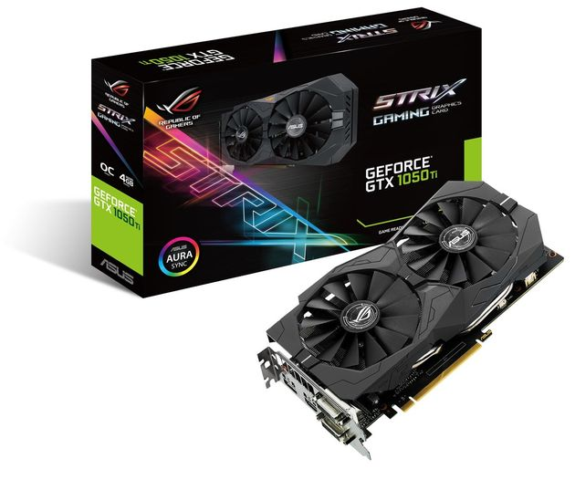 ASUS GeForce GTX 1050 Ti Strix OC karta graficzna