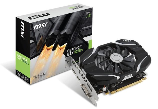 MSI GeForce GTX 1050 Ti 4G OC karta graficzna