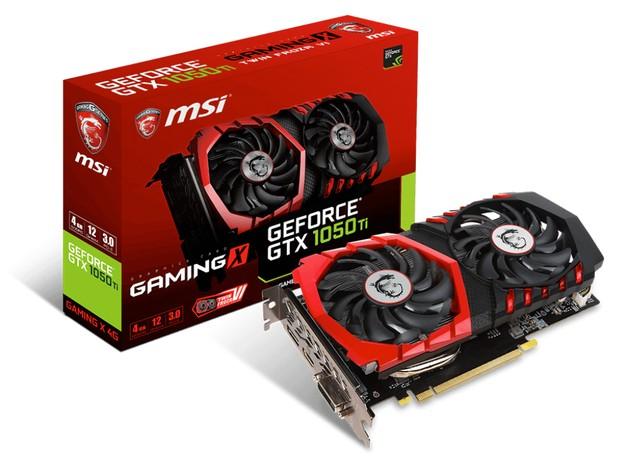 MSI GeForce GTX 1050 Ti Gaming X karta graficzna