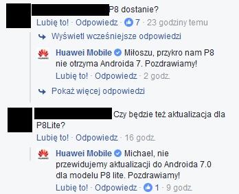Huawei P8 lub P8 Lite Android 7.0